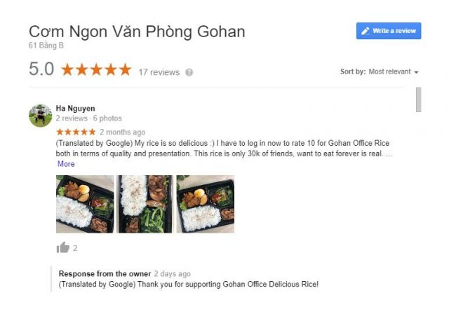 Dịch Vụ review 5 sao Google Maps